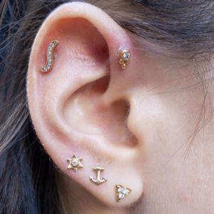 oreille avec composition de bijoux BVLA